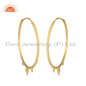 Yellow Gold Plated Designer Silver Hoop Bali Earrings Manufacturer