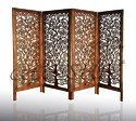 Mdf And Mango Wood Wooden Handmade Room Divider, Rectangular, 4