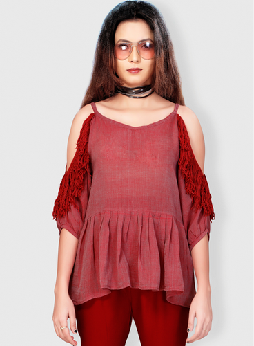 9903069a2d5f8 Scarlet Ruse Cold Shoulder Top Oval Shape Vilr0200a17 at Rs 1895.40 ...