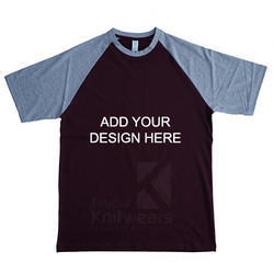Custom Raglan Round Neck T Shirt