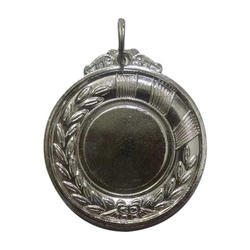 Round Silver Plated Medal