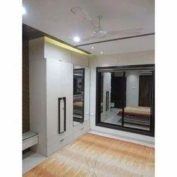 Double Door Designer Wooden Wardrobe
