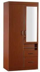 Dark Chocolate Particle Board ( HDF ) PKWR 001 2 Door Wardrobe, Warranty: 1 Year