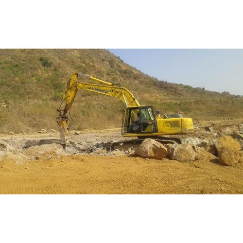 JCB Ride-On Smooth Finish Construction Bulldozer Machine Renting Services, Capacity: <100 Tons