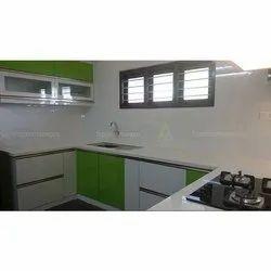 PVC U Shape Modular Kitchen
