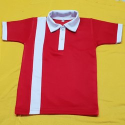 Red and White T-Shirt School Uniform