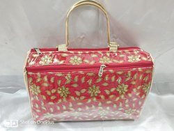 Multicolor Poly Dupion Silk Embroidered Handbag