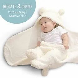 Double Layered Hooded Swaddle Wrapper / Baby Blanket