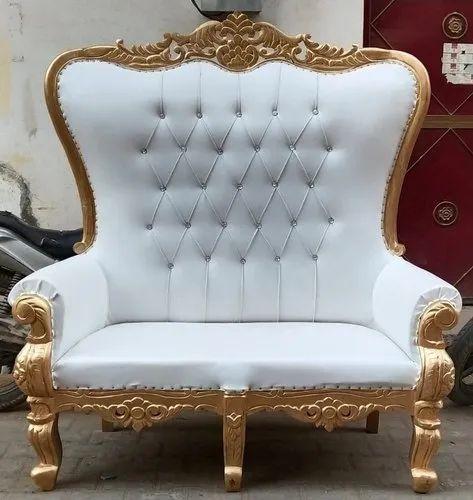 Wooden Designer High Back Wedding Stage Sofa