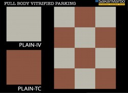 Plain Vitrified Parking Tiles