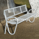 White Stainless Steel Chevi Strata Waiting Chair, Size: 1920 X 640 X 920 Mm