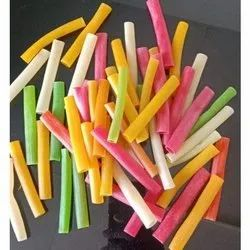 Basic Indian Coloured Pipe Fryums, Packaging Size: 25-30 Kg, Packaging Type: Bag