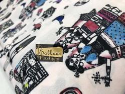 Satkaar Embroidery Crepe Digital Prints Fabric, For Garments, Packaging Type: Poly Bag