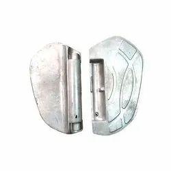 Silver Aluminium Footrest Casting