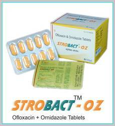 STROBACT-OZ(Ofloxacin and Ornidazole Tablets)