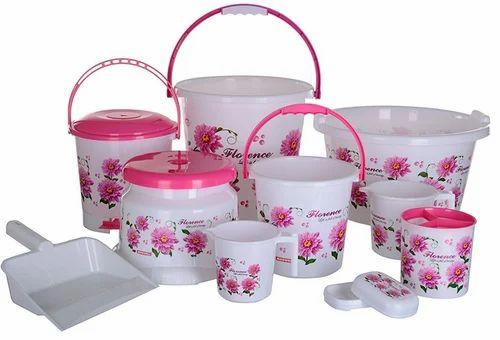 Aarohi13 Plastic Bath Set