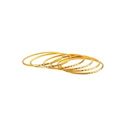 Sleek Golden Bangles
