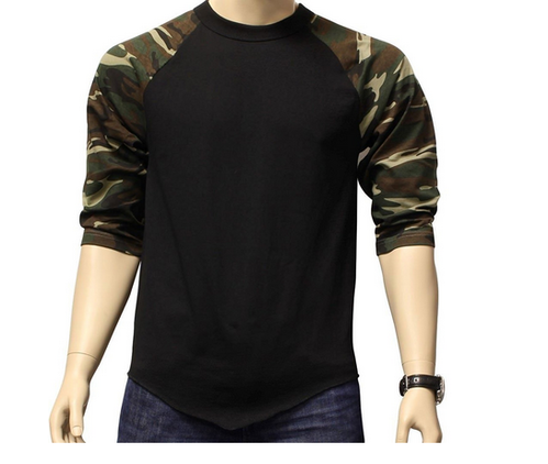 14125fb93705d Polyester Mens Camo Flag Army Tee Black Camo T-Shirt