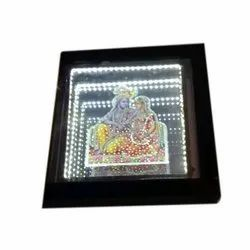 Electric Square LED 4D Religious Photo Frame, Size: 20 x 20 Inch