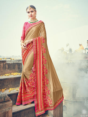 faddbcdd2c Net Party Wear Embroidered Designer Sarees, Rs 1595 /piece | ID ...