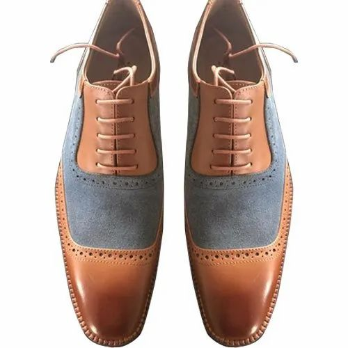 d6c40b76db5 Custom Made Tan Mens Hand Painted Patina Finish Leather Shoes