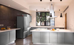 L Shape Stainless Steel Modular Kitchen, Warranty: 1-5 Years, In Telangana