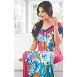Printed Rayon One Pieces Ladies Nighty