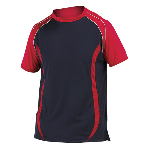 66027fa0 Red And Black Sports Cricket Club T-Shirt, Rs 150 /piece | ID ...
