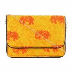 Azzra Yellow Daily Use Designs Womens Clutch
