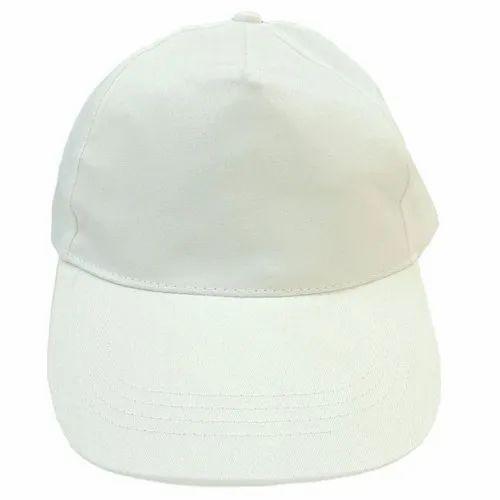 White Advertising Cap, Size: 21 X 21 Cm