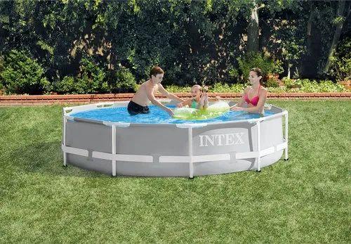 Intex Metal Framed Swimming Pool 10 Feet Diameter