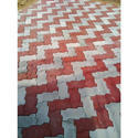 Red And Grey Interlocking Paver Block