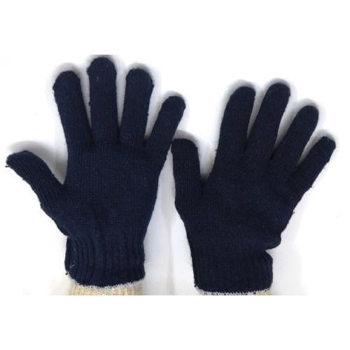 b8a0baab1 Black Full Finger Cotton Knitted Safety Gloves, Rs 10 /pair   ID ...