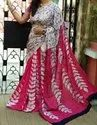 Casual Wear Printed Cotton Saree, 6.3 M (with Blouse Piece)