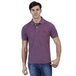 Mens Purple Collar T Shirt