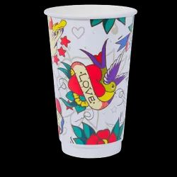 16oz Combo Smooth Double Wall Printed Hot Cup