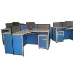 Blue And Grey Computer Lab Furniture