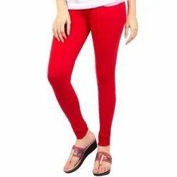 Ladies Red Cotton Legging