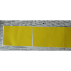 Yellow Color Coated Self Adhesive Labels
