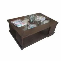 Rectangular Wooden Laminate Decorative Center Table for Residential, Official
