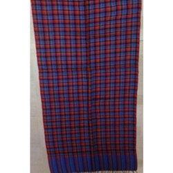 Wool Yarn Dyed Check Shawls