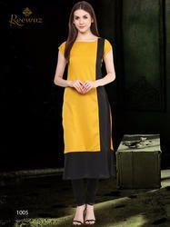 Georgette Plain Kurti, Size: S