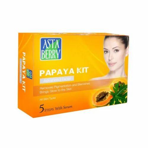 Herbal Cream Gold Facial Kit, for Parlour