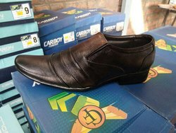 Black Leather Shoes, Size: 6-10