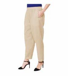 Formal Wear Ladies Cotton Pant