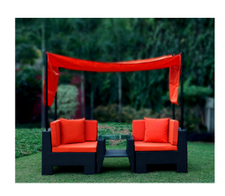 Red And Black Riveting Chair