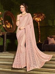 PR Fashion New Pastel Pink Colored Designer Saree
