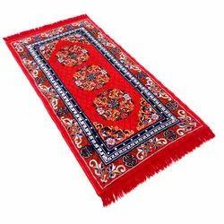 Multicolor Velvet Handloom Carpet, Size: 5/7 feet