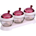 Pink Elegant Glass Bowl Set