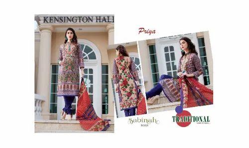 Priya Sabinah Karachi Cotton Dress Material